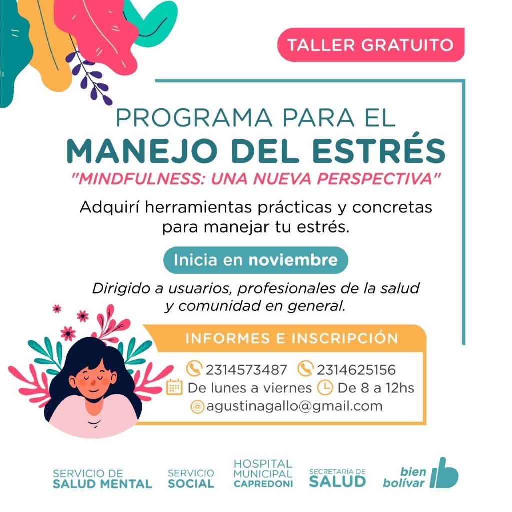 El hospital municipal brindará un taller gratuito sobre manejo de ansiedad