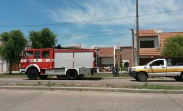 Por un cortocircuito se generó un principio de incendio en una vivienda