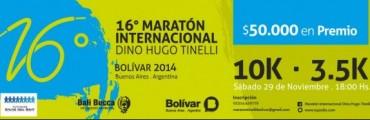 Más de mil inscriptos para la 16º Maratón Dino Hugo Tinelli