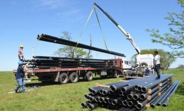 Ya están en Bolívar los caños para la segunda etapa de la ampliación del Loop de Gasoducto