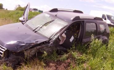 Guaminí: Accidente y despiste sin consecuencias en Ruta Provincial 65