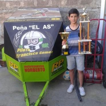 Carlos Casares: Francisco Gómez, se coronó subcampeón en el Speedway