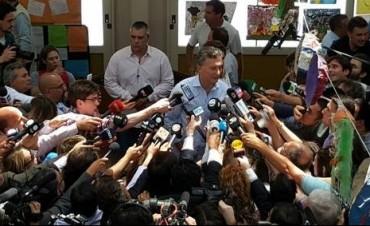 Mauricio Macri, al emitir su voto: