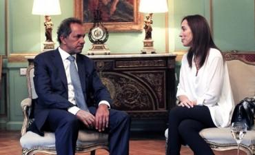 Vidal se reunió con Scioli por la transición