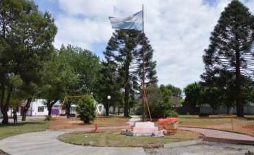El municipio realiza mejoras en la plaza de Barrio Obrero