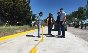 Últimos detalles de la avenida Cacique Coliqueo antes de su inauguración