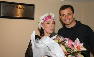 Graciela Borges, que presentó ayer la obra 'Entre Nosotros', fue declarada visitante Ilustre
