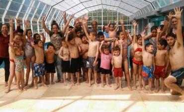 Los chicos del CAI visitaron del Natatorio Municipal