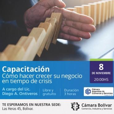 Cámara Comercial(Capacitación): Cómo hacer crecer su negocio en tiempo de crisis