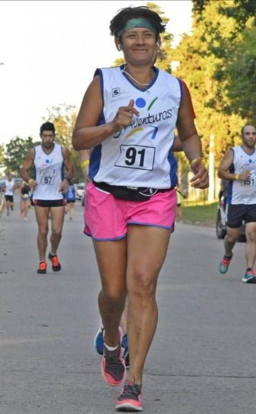 Rosalia Pereira ganó su categoría en la 'Maratón de 9 de Julio'