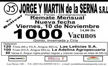 Fue diferido el remate de la firma Jorge y Martín de la Serna