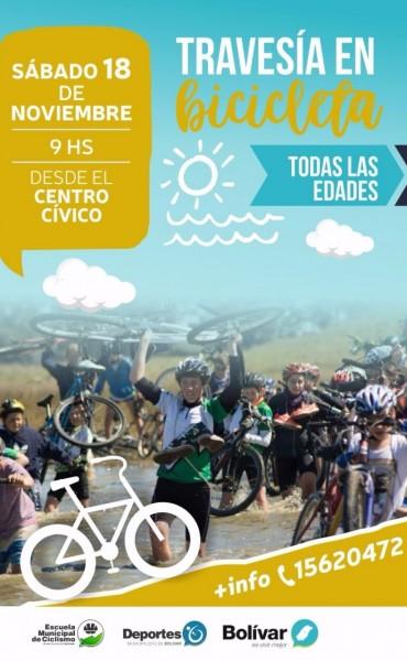 Este sábado se realiza una travesía en bicicleta