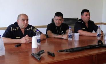 Se realizó una capacitación de Policías este fin de semana sobre el uso de armas
