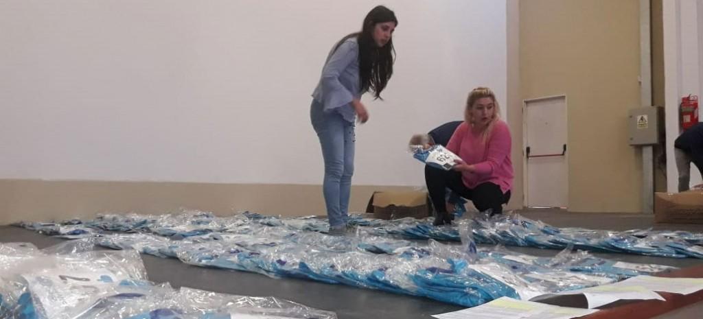 Comenzaron a entregarse los kits de la 20º edición del maratón Dino Hugo Tinelli