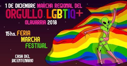 Gacetilla de prensa: 'Marcha Regional del Orgullo LGBTIQ+ Olavarría 2018'