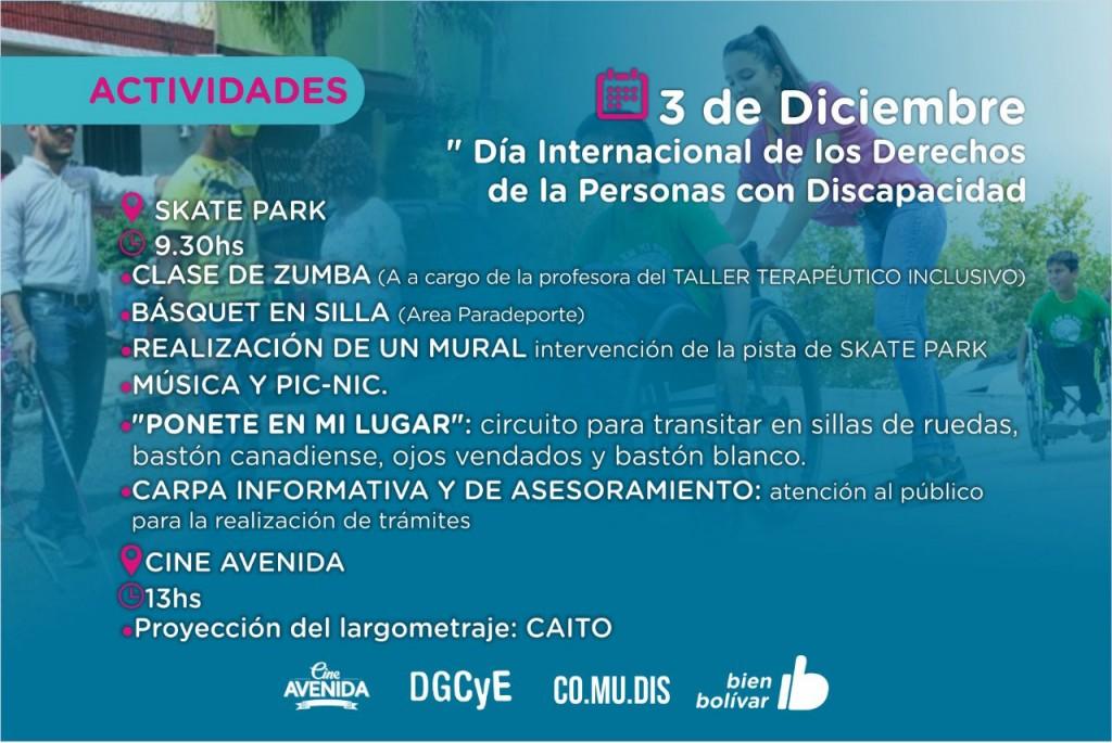 Habrá actividades por el día internacional de las personas con discapacidad