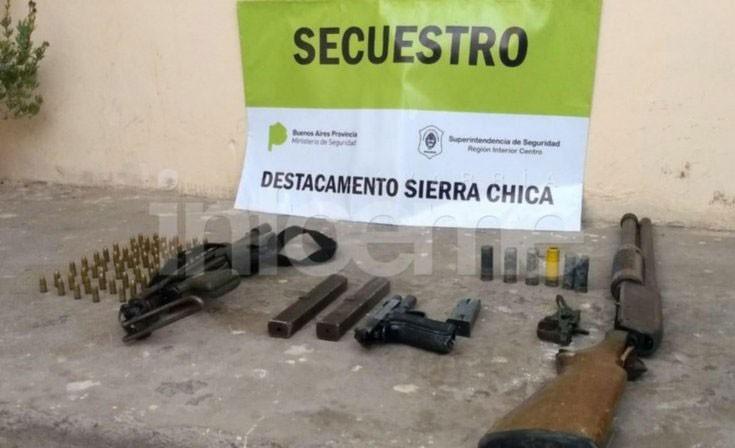 Olavarría: En un allanamiento, encontraron las armas robadas de la Unidad Nº 2