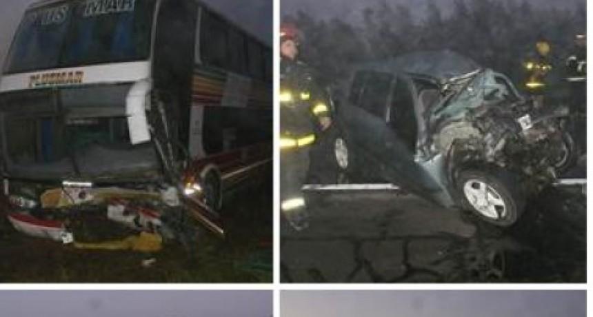 Lobos: Múltiple choque en Ruta 205; un fallecido