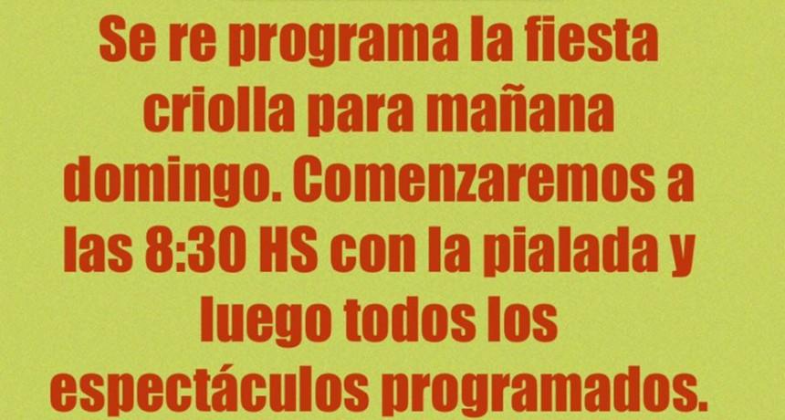 Se reprogramaron las actividades de la Fiesta Campera a Rural Abierta para el domingo 18