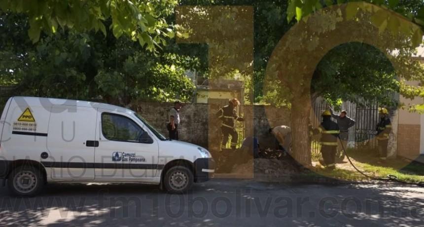 Escape de gas sin mayores consecuencias en una vivienda de calle Almafuerte entre Rodríguez Peña y Paso