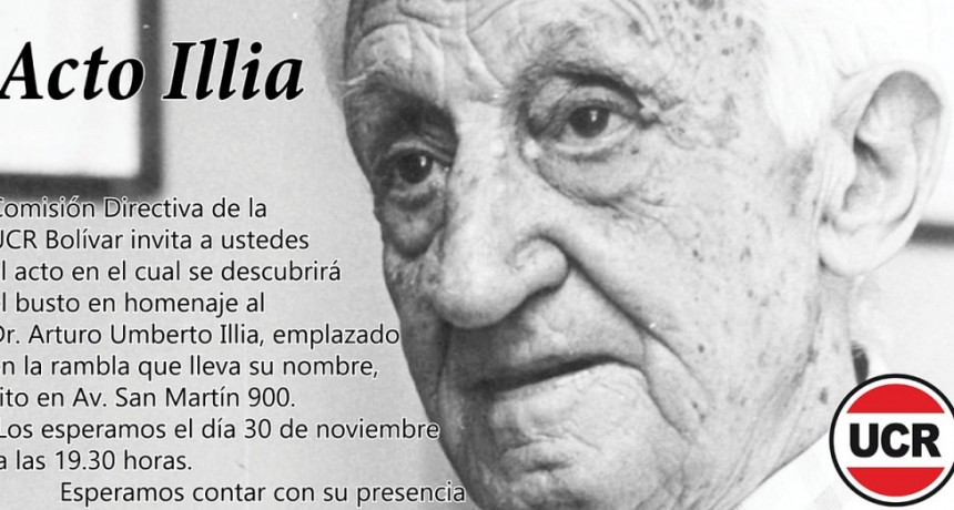 Se inaugura el busto de Arturo Umberto Illia