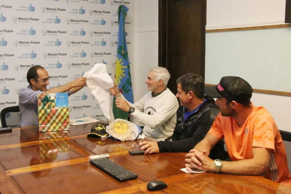 Pisano recibió al Ex Comandante Tibaldi de la Expedición Homenaje a los tripulantes del A.R.A San Juan