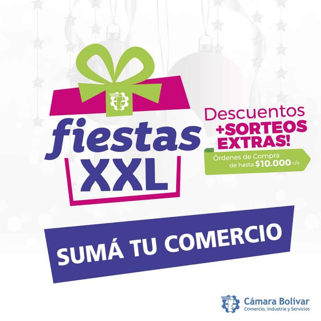 Convocatoria a comercios para participar de la campaña Fiestas XXL de la Cámara Comercial