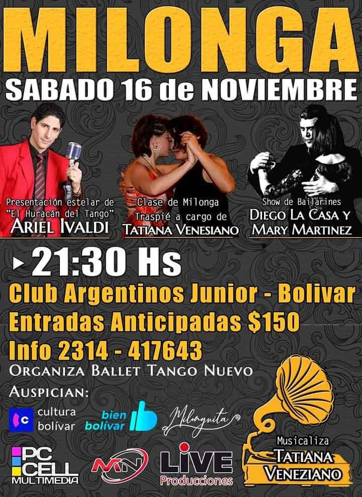 Gran Milonga en el Club Argentino organizada por Ballet Tango Nuevo