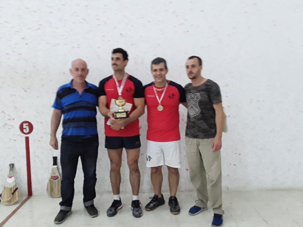 Una pareja platense se consagró campeona de la 4º categoría de Pelota-Paleta