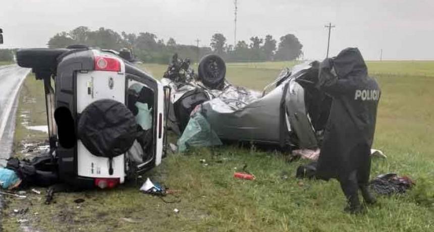 Accidente trágico en Ruta 3 entre Azul y Chillar