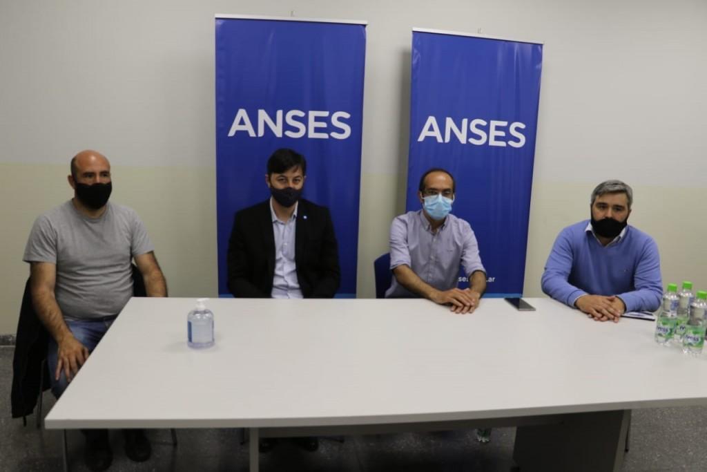 ANSES:  el Jefe Regional visitó la UDAI Bolívar