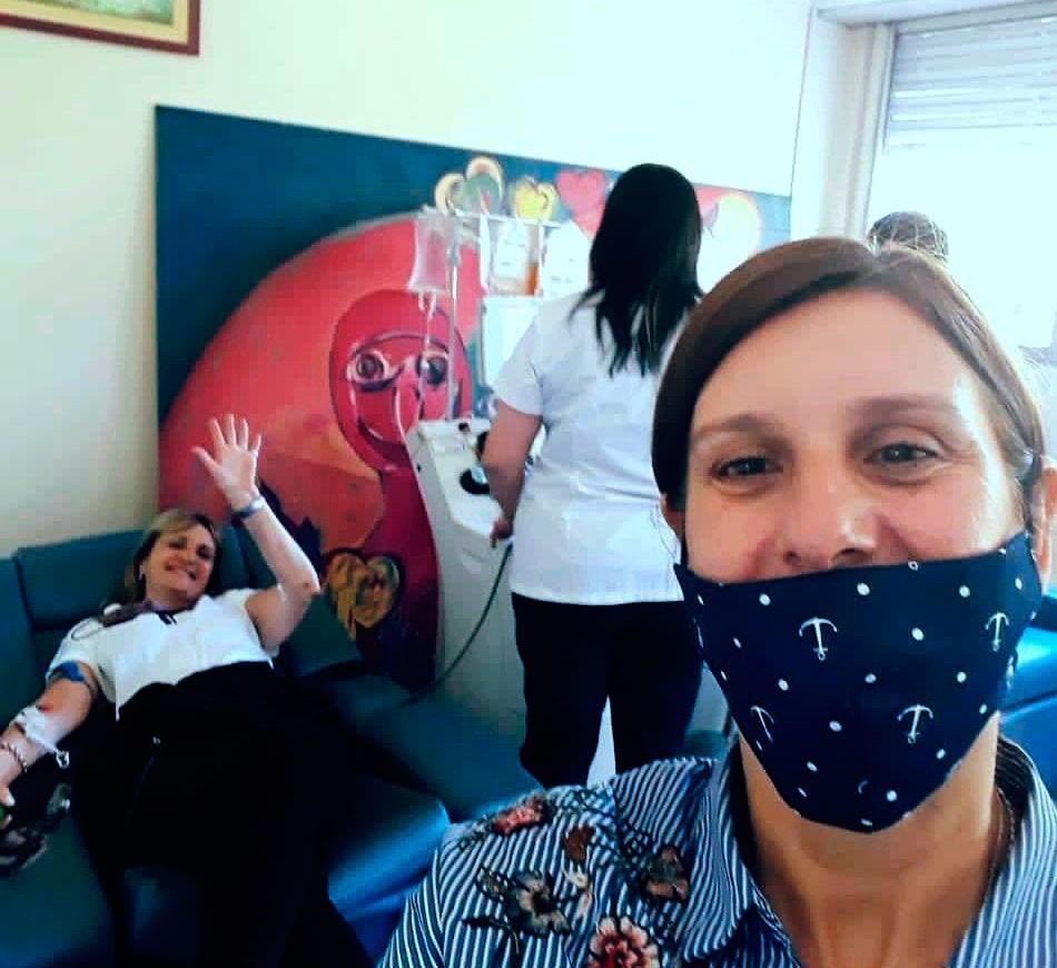 Marcela Esnaola decidió ser donante de plasma