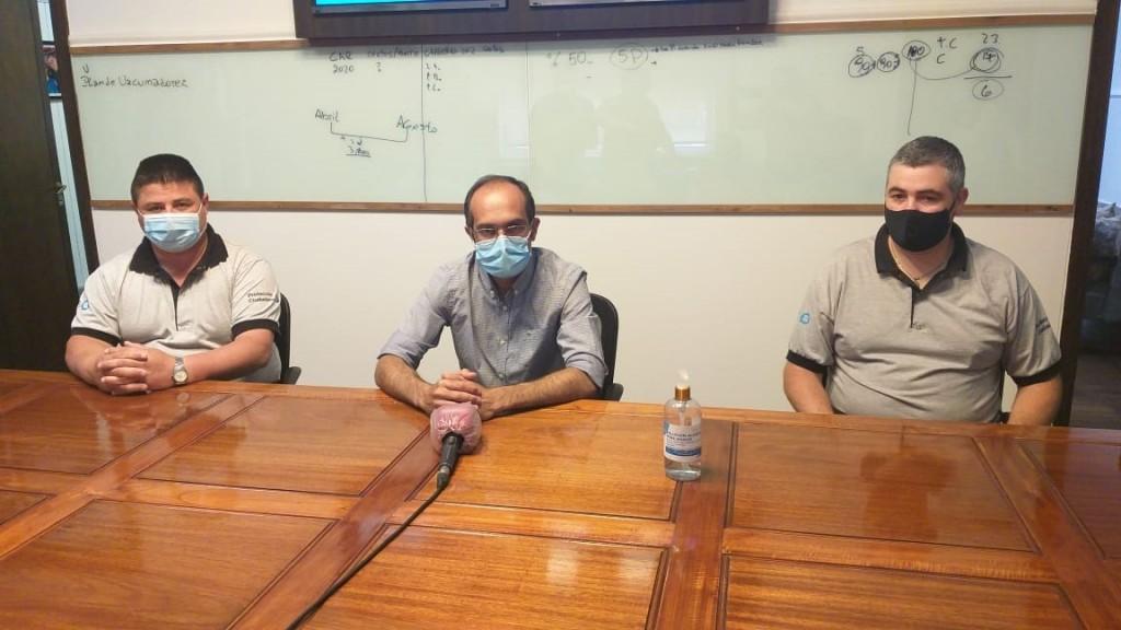 El Intendente recibió a los agentes de Protección Ciudadana que asistieron a un hombre tras una descompensación y le salvaron la vida
