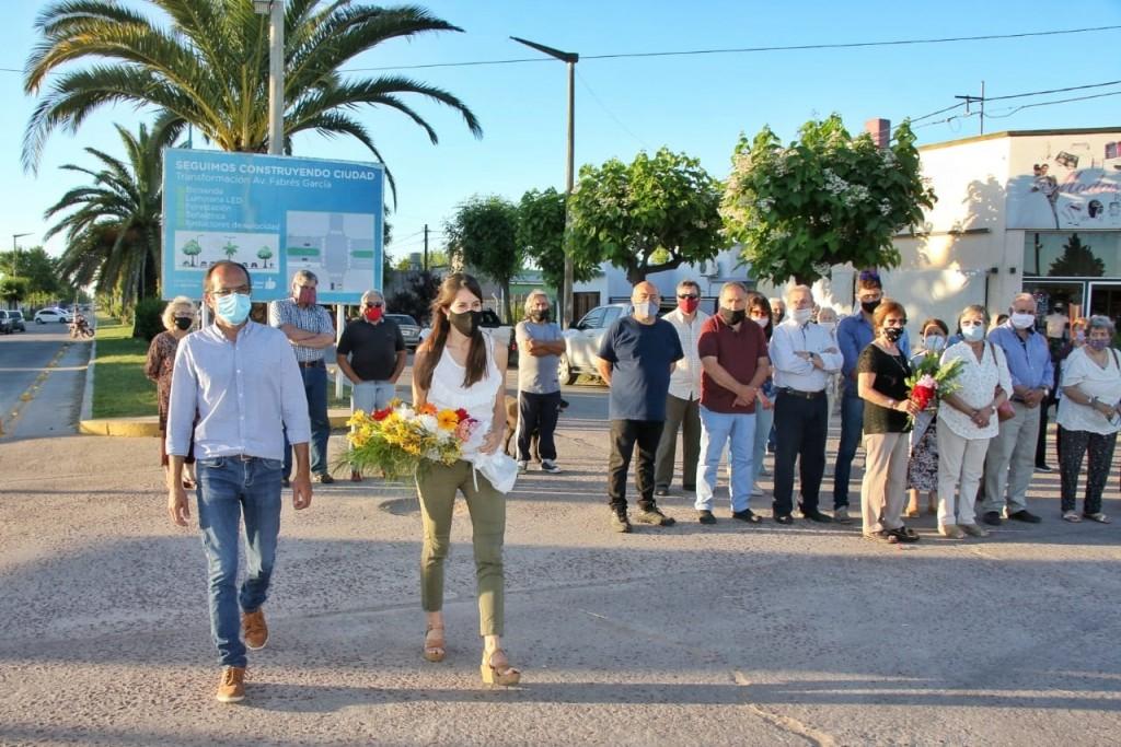 Se recordó a Juan Carlos Bellomo y estuvo presente en el acto el intendente Marcos Pisano
