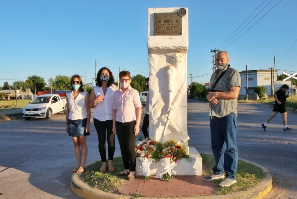 Se rindió un nuevo homenaje a Juan Carlos Bellomo, a 35 años del dramático suceso que atravesó la ciudad de Bolívar