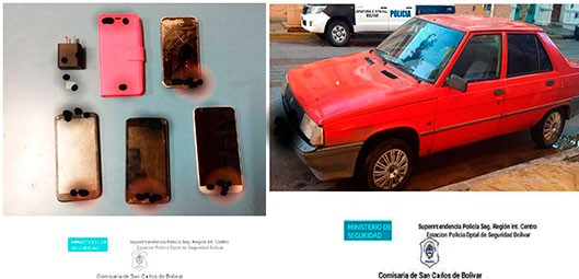 Informe Oficial de Comisaría: secuestraron un vehiculo donde se movilizaba quien sustrajo teléfonos desde el hospital