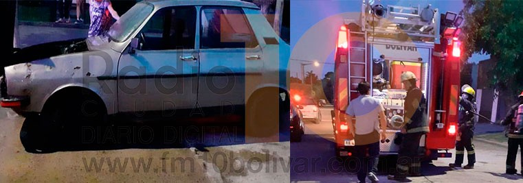 Se registró un principio de incendio en un vehículo