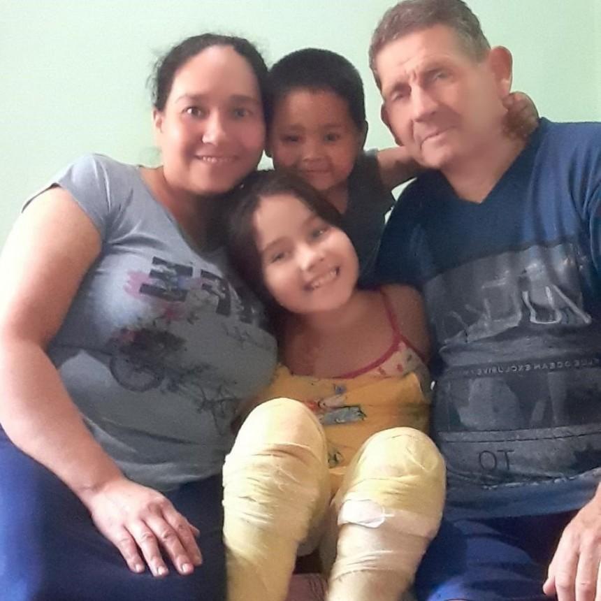 Dalma Pachame ya disfruta de su familia, se está recuperando favorablemente en su casa