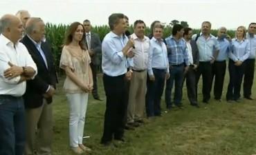 Pergamino: Macri anunciará retenciones cero, salvo para la soja