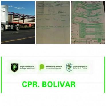 CPR: Infracción a un camión y acoplado que transportaba 33 vacunos