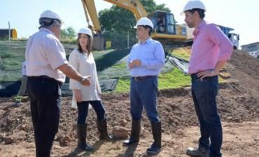 Vidal recorrió obras hidráulicas en Vicente López