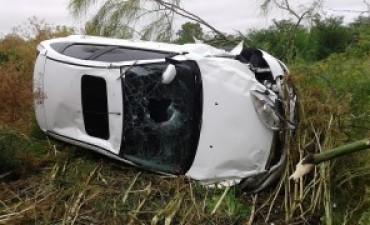 Familia alvearense protagonizó un importante accidente en ruta 51