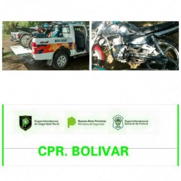 CPR: Incautan dos motocicletas sin documentación, ni seguro en zona rural