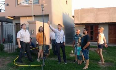 El intendente Bucca inauguró la extensión de la red de gas a las nuevas viviendas de Los Zorzales