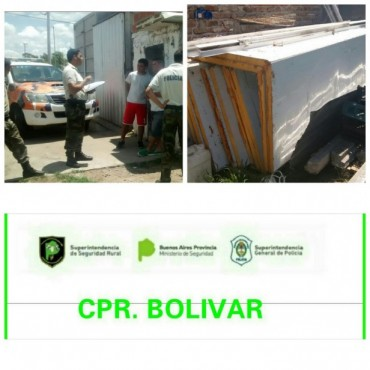 CPR de Bolívar y Pehuajó: Tras allanamiento en un galpón de venta de pollos de Pehuajó, recuperaron una Cámara Frigorífica