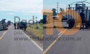 Ruta 65: Hubo demoras en el tránsito por un leve accidente