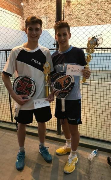 Tirso Pato y Joaquín Marcos son campeones del Torneo de Pádel en Médanos