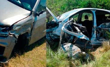 Accidente Ruta 65: Dos vehículos se rozaron y uno de ellos terminó volcando violentamente