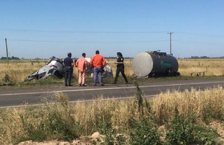 Junín: Dos muertos por un accidente en la Ruta 7
