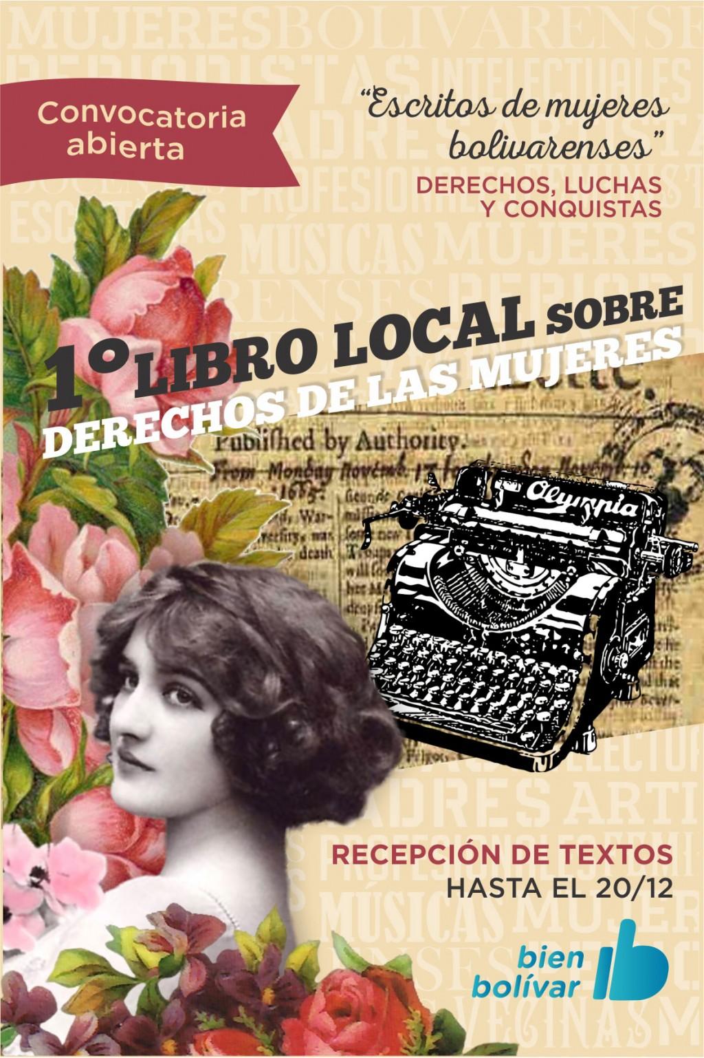 El 20 de diciembre es el último plazo de recepción del libro sobre mujeres